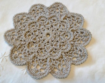 Cotton and Silk Doily