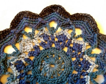 Blue Wool Doily