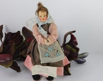 Doll Italian Felt Doll Vintage