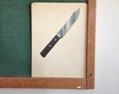 Vintage School Flashcard- Knife