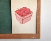 Vintage School Flashcard- Cherries