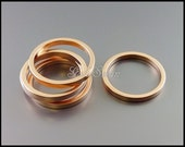 4 high quality matte rose gold plated brass 20mm open circle pendants, rings, round pendant 2048-MRG