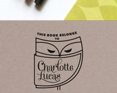Book Plate Stamp - This Book Belongs to Stamp - Ex Libris Stamp - Custom Rubber or Self Inking Stamp - No. 31