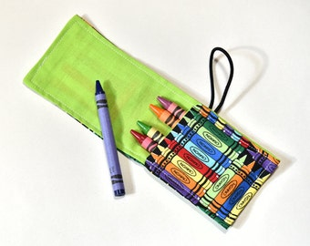Crayon Roll Up Kids Birthday Gift, Crayon Holder, Crayon Wrap, Children Birthday Party Favor, Party Supplies, Crayons Not Included