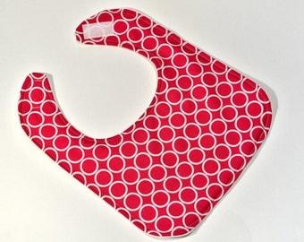 Baby Girl Bib Infant Bib New Baby Shower Gift Baby Accessories Hot Pink Drool Bib or Nursing Bib Metro Circle