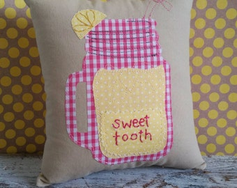 Mason Jar of Sweet Lemonade Children's Accent Tooth Fairy Pillow