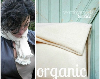 SALE Today Organic Ivory Velour By The Yard GOTS Certified Organic Cotton Velour Velveteen Made in the US Cotton Knit Yardage Eco Friendly B