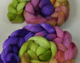 Moon Juice - hand dyed Polwarth wool - 4 oz