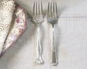 Silver Plate Flatware Serving Forks - Mismatched Serving Pieces - Wm A Rogers