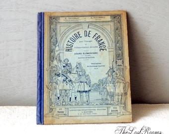 1910s French Study Book - Histoire de france par l'image et l'observation directe - cours preparatoire.