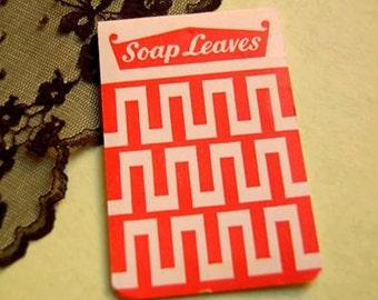 Soap leaves, Book of soap, 1950s portable soap, Soap Booklet, Vintage soap.