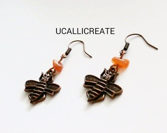 Just BEEcause Earrings (Nature Edition) Bee Earrings/Handmade by Me/Gifts for Her