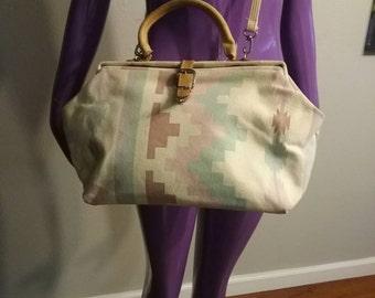 Vintage Purse Crossbody Tribal Print Bag