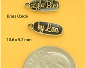 Brass Oxide metal custom jewelry tags