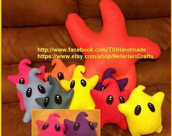 Handmade Luma plushie from Super Mario Galaxy, Super Mario Bros Power Star Luma, Sea Star Amigurumi , Design your Own Luma Toy, Luma Love