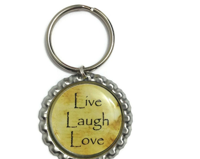 Live, Laugh, Love Keychain, Keyring, Zipper Pull, Purse Charm, Wallet Charm - Handmade To Order