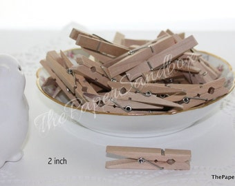 "20 Wood Clothespins, Choice of 2 sizes, 2"" Clothespins, 1.5"" Clothespins, Photo Clips, Card Clips, Bag Clips, Banner Clips, Party Supplies"