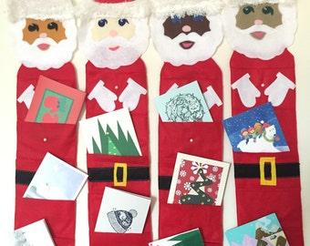 Santa Hanging Christmas Card Holder Holiday Card Holder