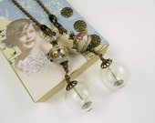 Chain Pull Pair for Ceiling Fan or Lamp Picture with Clear Hollow Glass Beads
