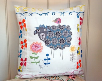Sheep Cushion. The Sheep Botherer. Scatter Cushion. Decorative pillow. Made to Order.