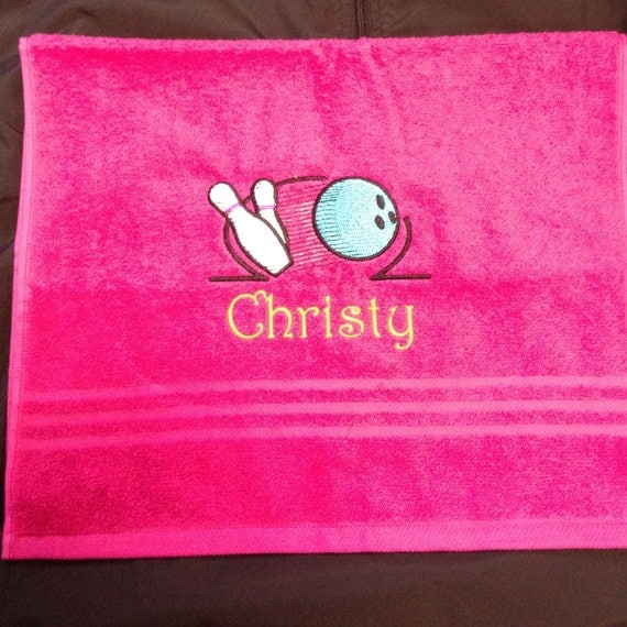 Items Similar To Fun Bowling Hand Towels For Ladies Or Men
