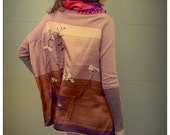 Upcycled Cashmere & Silk Dusty Pink Cardigan
