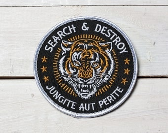"Search & Destroy- 3.5"" Embroidered Patch"