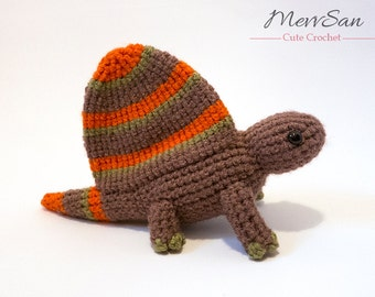 Crochet PATTERN PDF - Amigurumi Dimetrodon Dinosaur - amigurumi dinosaur pattern, crochet dinosaur, amigurumi dinosaur toy, softie