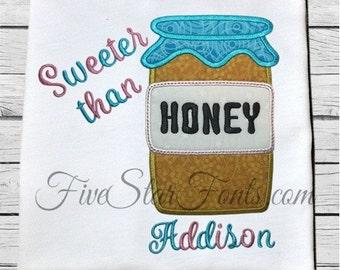 Honey Jar Applique