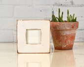 """3x3"""" Picture Frame in Escalante Style on Alder with Vintage White Finish - IN STOCK - Same Day Shipping - 4 x 4 Photo Frame"""