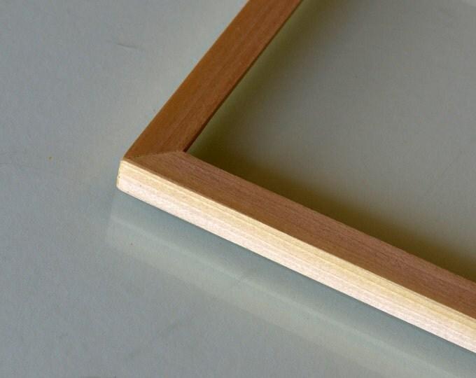 BASIC Picture Frame - Natural POPLAR Solid Hardwood Gallery Wall Frames - Choose Size: 3x3, 3.5x5, 4x4, 4x5, 4x6, 5x5, 5x7, 6x6, 7x7, 4x10