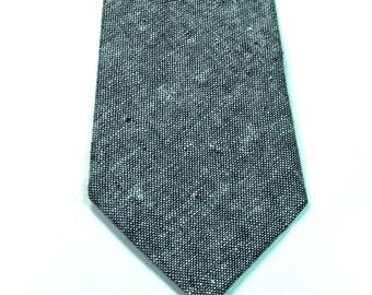 Chambray Neckties Skinny Neckties Cotton Neckties Custom Neckties Mens Neckties Wedding Neckties