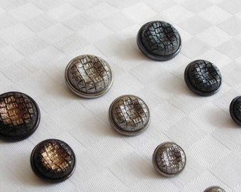 20 attractive glass buttons - different colors and sizes -