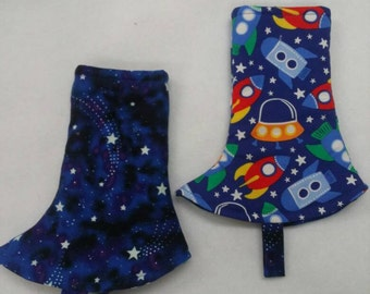 Tula or Kinderpack Corner drool Pads, ready to ship. Rockets, 1 pair 2 pads. 1-2 days shipping, Reversible  with Fabric Tag