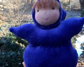 Squeezy Baby Bunting Doll 10 inch Waldorf Doll