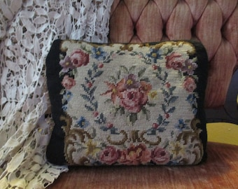 Lovely Vintage Point Petit Pillow Hand Embroidery