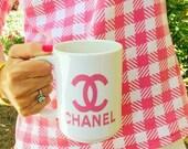 Pink chanel mug