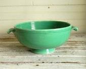 Vintage Fiesta Dish, Original Green Fiesta, 1950s Fiesta Bowl, Serving Bowl, Homer Laughlin Fiesta Ware Casserole Dish, Serving Bowl, 1950s