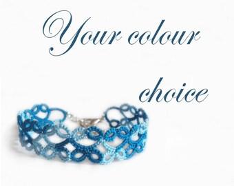 Custom Lace Bracelet - Your Colour Choice - Lillian - Adjustable