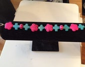 Turqoise and Pink Bracelet