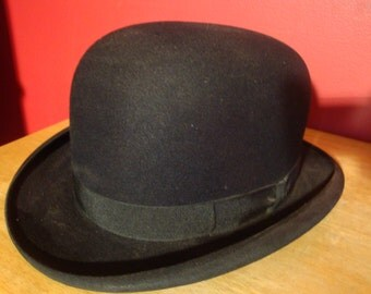 Antique Bowler Derby Men's Hat 7 1/8 Byron New York Highest quality