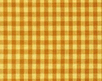 Dunroven Tea Towel Mustard Yellow Mini Check K322