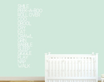 Baby Words - Nursery and Kids Room Wall Decals