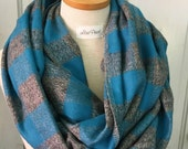 Flannel Infinity Scarf in Teal Buffalo Plaid