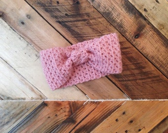 Bow headband, turban headband, earwarmer, ear warmer, pink, fall, hair, accessories, winter, yellow, head wrap