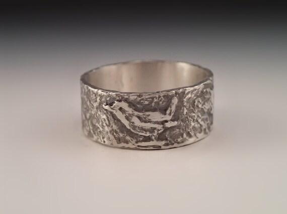 Bird Ring - wren - handmade art jewelry