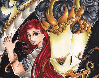 """Cyborg and the Dragon Gold Foil 11""""x17"""""""