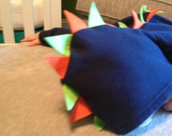 Dinosaur hoodie with spikes