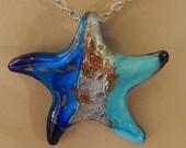 Art Glass Starfish Pendant