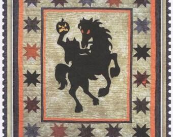 Brom Bones Headless Horseman Halloween Silhouette ThimbleCreek Quilt Pattern